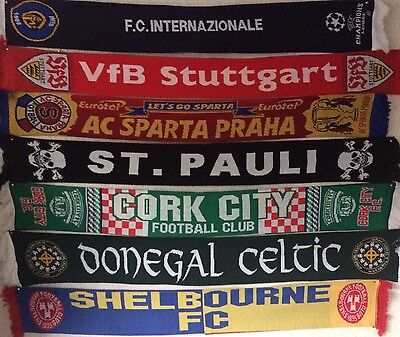 Assortment of European Clubs Football Scarves