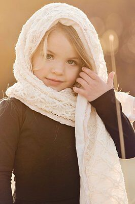 Persnickety Large Cream Shawl Scarf Lace Autumn Splendor Girls Boutique NEW kg1