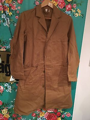 Vintage ' JAY BEE' brown overall Shopkeepers Coat Sz 34 New Old Stock Goodwood