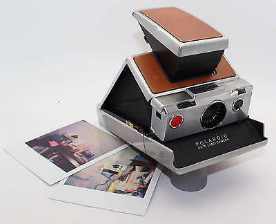 Polaroid SX-70 Land Camera with unused flash bar & a new pack film: VGC/Serviced