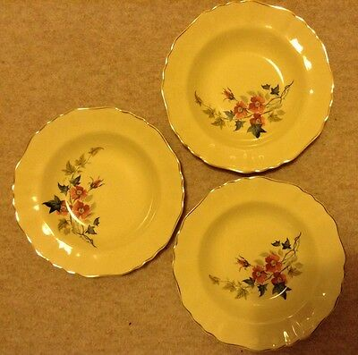 3 X Art Deco Alfred Meakin Glamour Sunflower plates in good condition