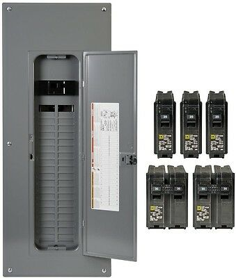 200-Amp Load Breaker Main 40-Space 80-Circuit Panel Box Load Center Plug-On