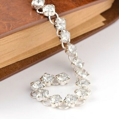 """3Strands Handmade Brass Rhinestone Link Chains for Jewelry Making Silver 39.4"""""""