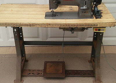 Industrial Sewing Machine heavy duty motor, light, and table had Consew in it