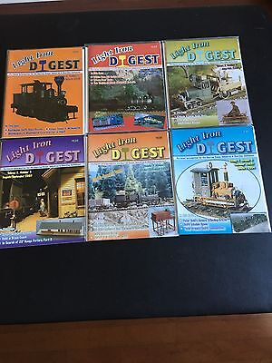 LIGHT IRON DIGEST  VOLUME 5  2003-2004  6 ISSUES  NARROW GAUGE hon3 sn3 on3 on30