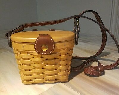 Longaberger 2000 Mini Purse Basket w/ LID & Plastic insert