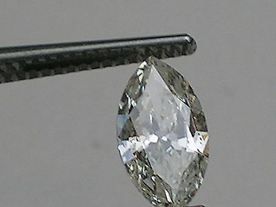 0.66 ct GIA Certified Loose Marquise Cut Diamond; K; I1; VG Cut; Laser Inscribed