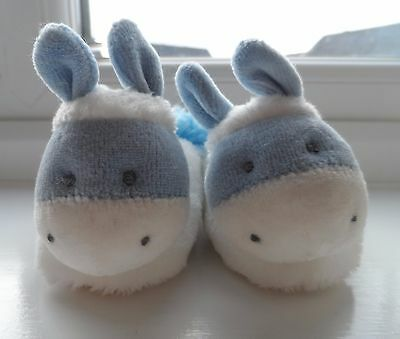 Russ Berrie's Dinky Donkey blue booties 0-10 months