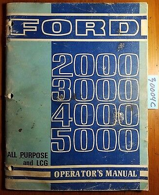 ford  tractor owner operator manual load monitor