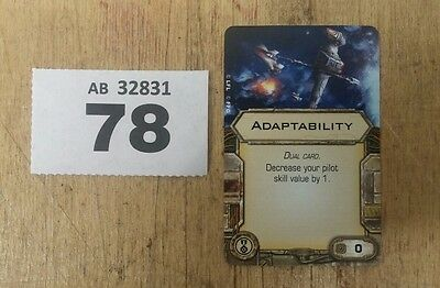 Star Wars X-Wing Miniatures Game Adaptability upgrade card