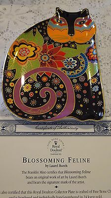 """""""Blossoming Feline"""" Plate by Laurel Burch/Royal Doulton and Franklin Mint"""