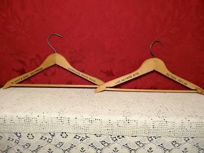 2 Old Wood Advertising Clothes Hangers Lord Baltimore Md. Hotel + Katz Mens Wear