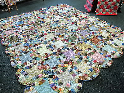 Authentic Amish Handmade Lg. Qn/King Quilt,103 x 116, Signed/Dated, Pennsylvania
