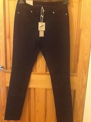 Joules Monroe stretch skinny jeans size 10, Blue-black, BNWT