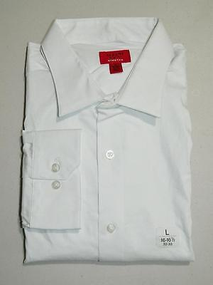 Alfani Men's White Dress Shirt Slim Fit Stretch NWT Size 16 - 16 1/2 32/33 DS282