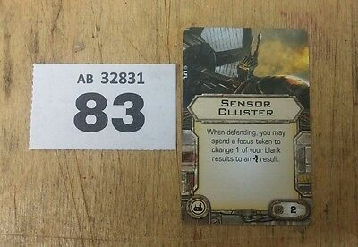 Star Wars X-Wing Miniatures Game Sensor Cluster upgrade card