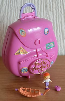 Vintage Polly Pocket Jungle Adventure Backpack with Figure 1996