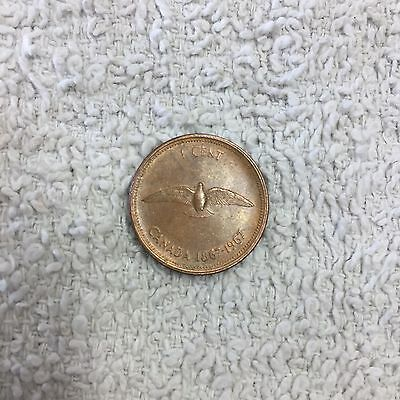 1967 Canadian One Cent 1cent Penny 1867 Anniversary Canada