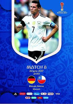 Programme Germany v Chile 22.06.2017 Confederations Cup. Unofficial