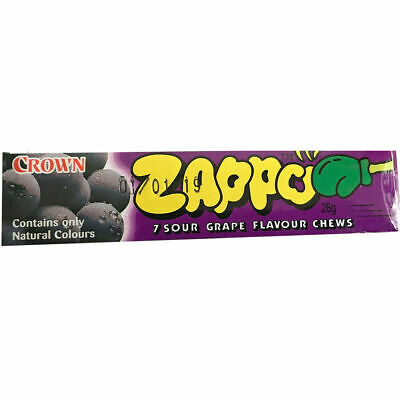 20 x Zappo Chews Sour Grape 26g Candy Buffet Sweets Party Favors Bulk Lollies