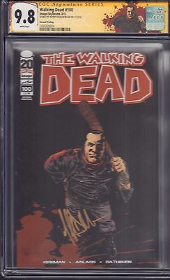 "The Walking Dead #100 CGC 9.8 SS Jeffrey Dean Morgan ""NEGAN"" with NEW WD LABELl!"