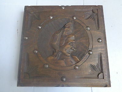 Unusual Vintage French  Rustic Wood Carved Trivet  Shabby Chic Kitchen