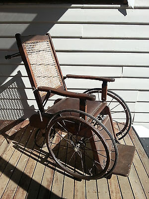 Antique 1900's Edwardian Wheelchair