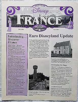 Fall 1988 Euro Disney Disneyland Paris Discover France Cast Newsletter 1St Ed