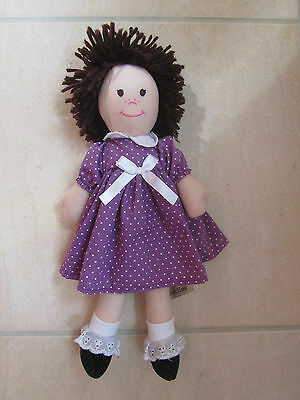 Mary-Jane Lots of Cuddles Rag Doll Soft Toy - Purple - 12 Months +
