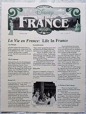 Rare Winter 1988 Euro Disney Disneyland Paris Discover France Cast Newsletter