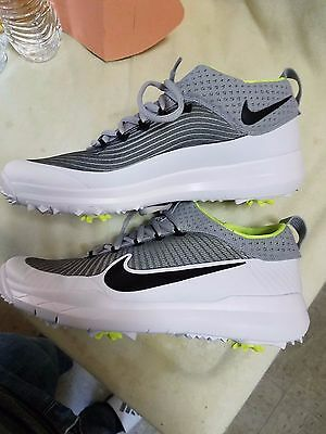 mens Nike Fi Premier Golf Shoes Cleats Silver White control 835421 8.5 9 or 11