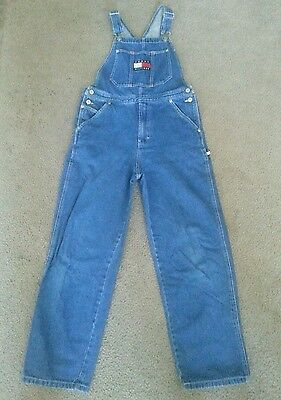 Tommy Hilfiger Jeans Overalls Bib Medium Youth Hard To Find!! Excellent