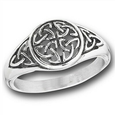 Stainless Steel Triquetra Ring
