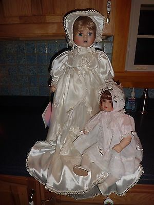 """William Tung """"Page"""" 21"""" tall porcelain doll & 17"""" porcelain  doll free shipping"""