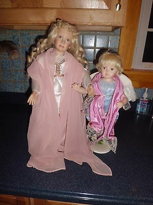 "Ann Timmerman 12"" tall Arielle & 19"" tall Angelica by Pamela Phillips"