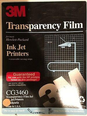 3M Transparency Film for Color Laser Printers 37 Sheets 8.5 x 11 CG3700