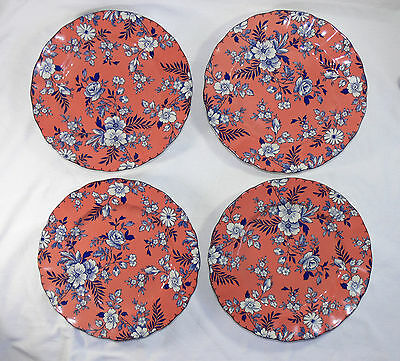 Set of 4 JOHNSON BROTHERS ENGLAND Devon Cottage Accent Salad Plates - AS NEW