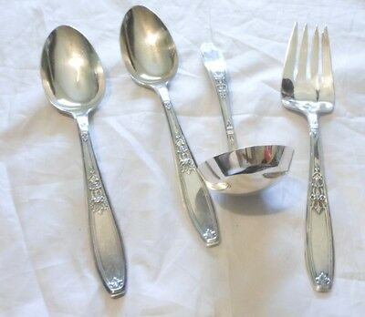 4 Ambassador 1919 1847 Rogers Bros serving pcs Serving Spoons Pie Server Ladle