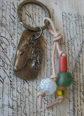 Borzoi, Russian Wolfhound key ring by Dianne Kresevich