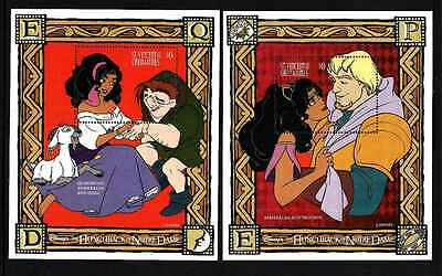 D1-Disney-St Vincent Sc# 2327-8-two unused NH sheets-The Hunchback of Notre Dame