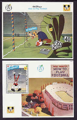 D1-Disney-St Vincent-Sc#1807A,B-two unused NH sheets-Sports-Goofy-How to Play Fo