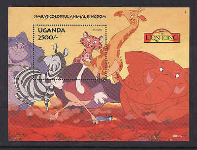 D1-Disney-Uganda-unused NH sheet-Simba-The Lion King-Animals-1994-