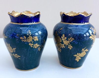 A Pair of Royal Doulton Miniature Ovoid Form Vases – Circa 1900