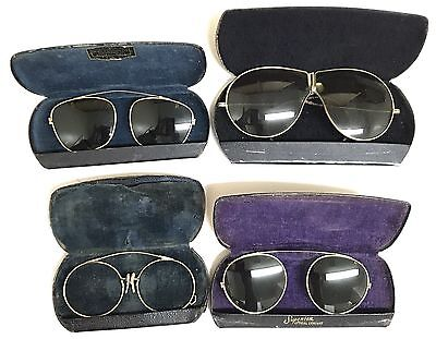 Antique Vintage Eye Glasses with Cases Eyewear Lot of 4