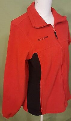 Columbia Jacket Coat Jacket Youth 18/20 Childrens Kids Red Front Zip