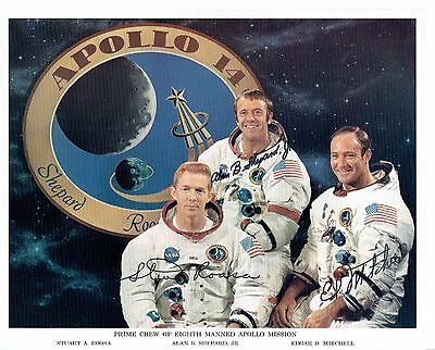Apollo 14 Crew Autograph Photo