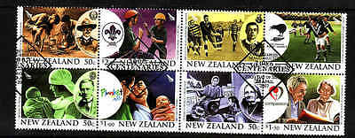 D1-New Zealand-Sc#2128a-used block-Scouts-Rugby Centenaries-2007-