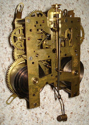 New Haven Time & Strike Mantel Clock Movement For Parts Or Repair