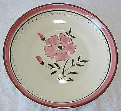 Stangl Colonial Rose Flat Soup Bowl