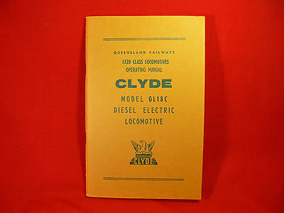 QLD RAILWAYS 1720 Class Locomotives CLYDE GL18C Diesel Electric OPERATING MANUAL